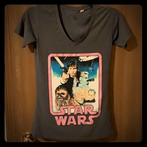 Star Wars graphic v neck tee Xs
